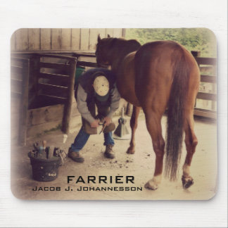 Farrier - Beautiful Horse Photo Hoof Trim Mouse Pads
