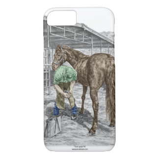 Farrier Blacksmith Shoeing Horse iPhone 8/7 Case