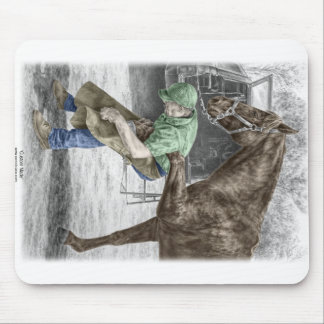 Farrier Blacksmith Shoeing Horse Mouse Pad