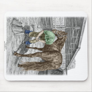 Farrier Blacksmith Trimming Horse Hoof Mouse Pad