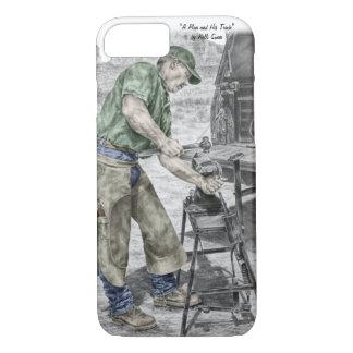 Farrier Blacksmith Using Anvil iPhone 7 Case