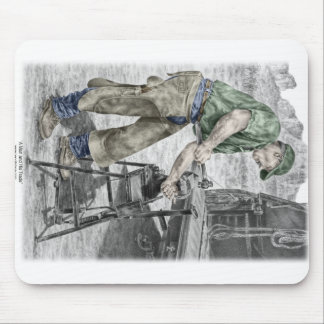 Farrier Blacksmith Using Anvil Mouse Pad