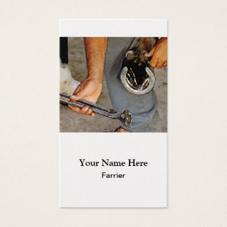 Farrier shoeing horse business card