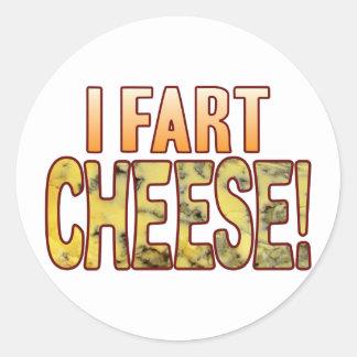Fart Blue Cheese Round Sticker