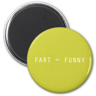 Fart = Funny 2 Inch Round Magnet