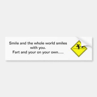 Fart Humor Bumper Sticker