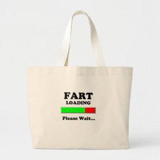 Fart Loading Please Wait Canvas Bag