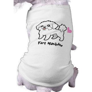 Fart Machine (maltese puppy cut) Doggie Tshirt
