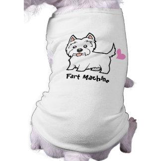Fart Machine (west highland white terrier) Doggie Tshirt