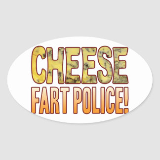 Fart Police Blue Cheese Oval Sticker