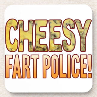 Fart Police Blue Cheesy Beverage Coasters