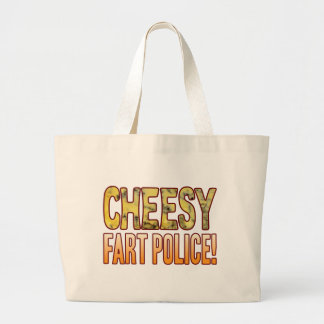Fart Police Blue Cheesy Jumbo Tote Bag
