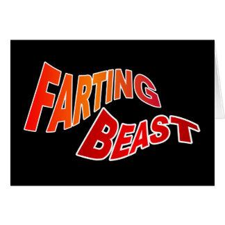 FARTING BEAST - hilarious innuendo humor Card