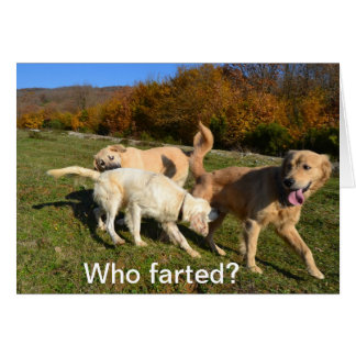Farting Card