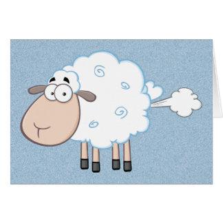 FARTING CARTOON SHEEP CARD
