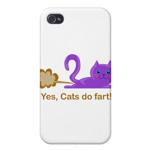 Farting cat, cat farts! iPhone 4 cover