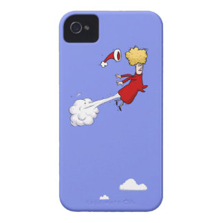 Farting Christmas Lady In The Sky iPhone 4 Case