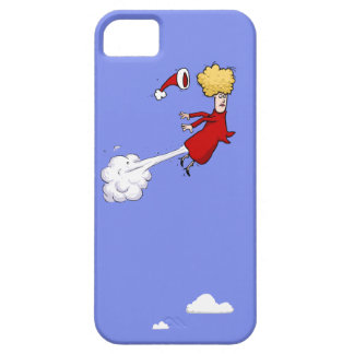 Farting Christmas Lady In The Sky iPhone 5 Case