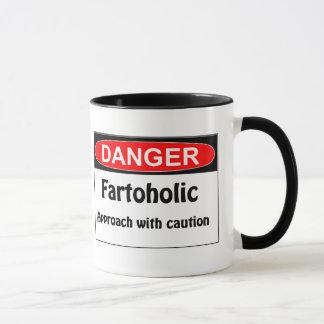 Farting Danger Fartoholic Mug
