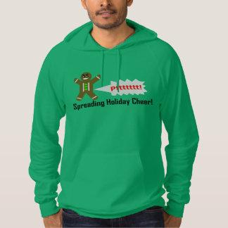Farting Gingerbread Man Christmas GREEN HOODIE