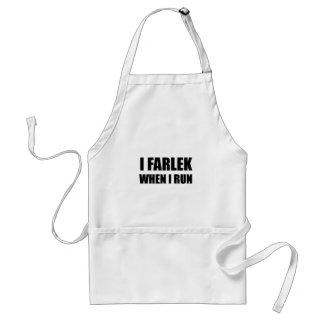 Fartlek When Run Black Standard Apron