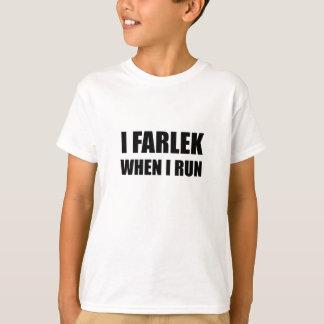 Fartlek When Run Black T-Shirt