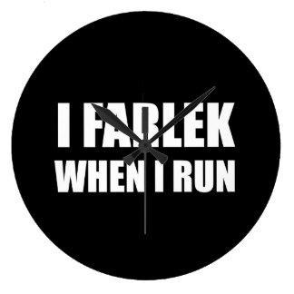 Fartlek When Run Large Clock