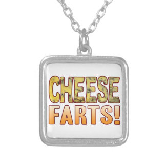 Farts Blue Cheese Silver Plated Necklace