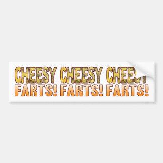 Farts Blue Cheesy Bumper Sticker