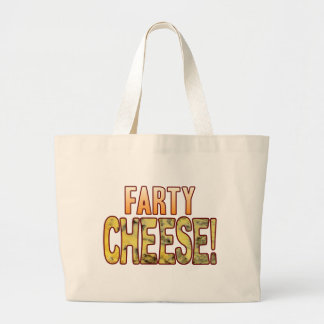 Farty Blue Cheese Large Tote Bag