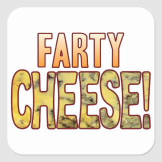 Farty Blue Cheese Square Sticker
