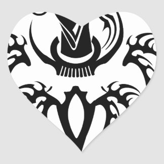 Farvahar Tribal two Heart Stickers