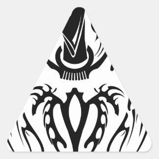 Farvahar Tribal two Triangle Sticker