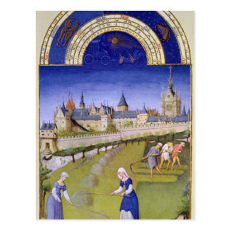 Fascimile of June: Haymaking Postcard