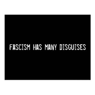 fascism has many disguises postcard