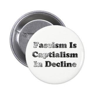 Fascism Is Capitalism In Decline 2 Inch Round Button