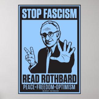 Fascisme d arrêt Lisez la copie de Rothbard Posters