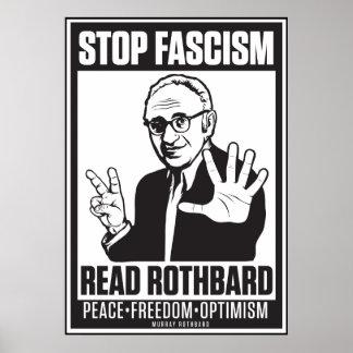 Fascisme d arrêt Lisez la copie de Rothbard Poster
