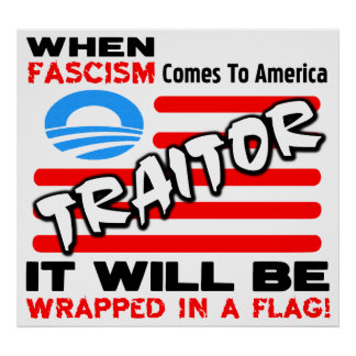 Fascisme dans un drapeau ! posters