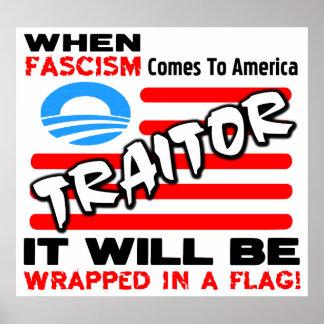 Fascisme dans un drapeau ! poster