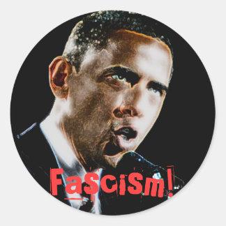 Fascisme ! sticker rond