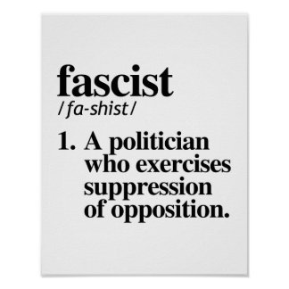 Fascist Definition - A politician who exercises su Poster