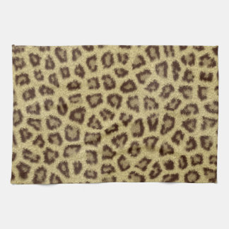 Fashinable leopard skin fluffy fur effect towels