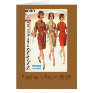 Fashion 1965 card