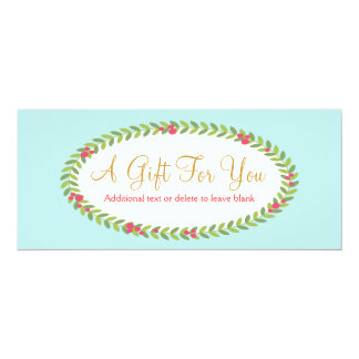 Fashion and Beauty Holiday Gift Certificate 4x9.25 Paper Invitation Card