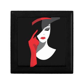 Fashion art deco elegant stylish illustration gift box