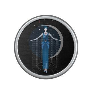 Fashion art deco elegant stylish illustration speaker