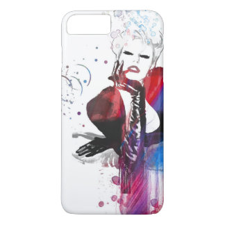 Fashion art illustration lady warecolor Phone Case