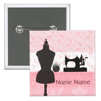 Fashion Arts and Crafts Seamstress Dressmaker 2 Inch Square Button