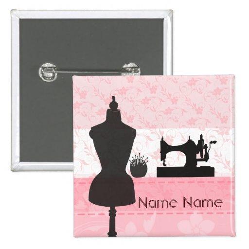Fashion Arts and Crafts Seamstress Dressmaker Pin